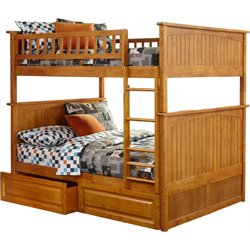 Atlantic Furniture Nantucket Storage Bunk Bed in Caramel Latte