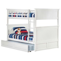 Atlantic Furniture Nantucket Trundle Bunk Bed in White