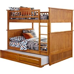 Atlantic Furniture Nantucket Trundle Bunk Bed in Caramel Latte