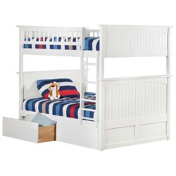 Atlantic Furniture Nantucket Urban Storage Bunk Bed in White
