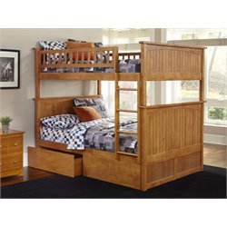 Atlantic Furniture Nantucket Urban Storage Bunk Bed in Caramel Latte