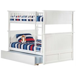 Atlantic Furniture Nantucket Urban Trundle Bunk Bed in White