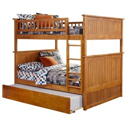 Atlantic Furniture Nantucket Urban Trundle Bunk Bed in Caramel Latte