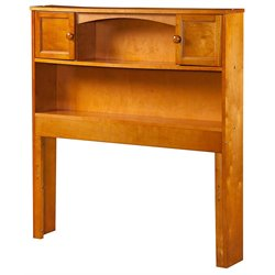 Atlantic Furniture Newport Bookcase Headboard in Caramel Latte
