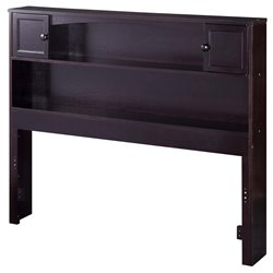 Atlantic Furniture Newport Bookcase Headboard in Espresso