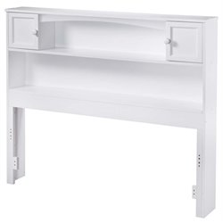 Atlantic Furniture Newport Bookcase Headboard in White