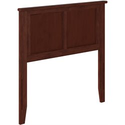 Atlantic Furniture Madison Panel Headboard in Walnut