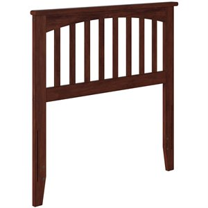 Atlantic Furniture Mission Spindle Headboard in Walnut