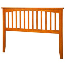 Atlantic Furniture Mission Spindle Headboard in Caramel Latte