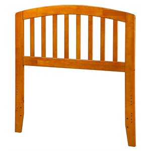 Atlantic Furniture Richmond Spindle Headboard in Caramel Latte