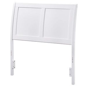 Atlantic Furniture Portland Sleigh Headboard in White