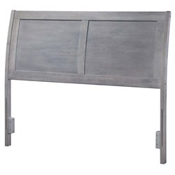 Atlantic Furniture Portland Sleigh Headboard in Driftwood Gray