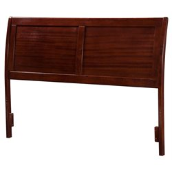 Atlantic Furniture Portland Sleigh Headboard in Walnut