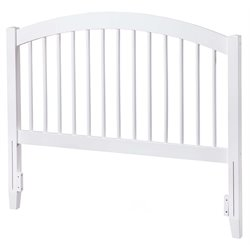 Atlantic Furniture Windsor Spindle Headboard in White