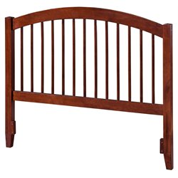 Atlantic Furniture Windsor Spindle Headboard in Walnut