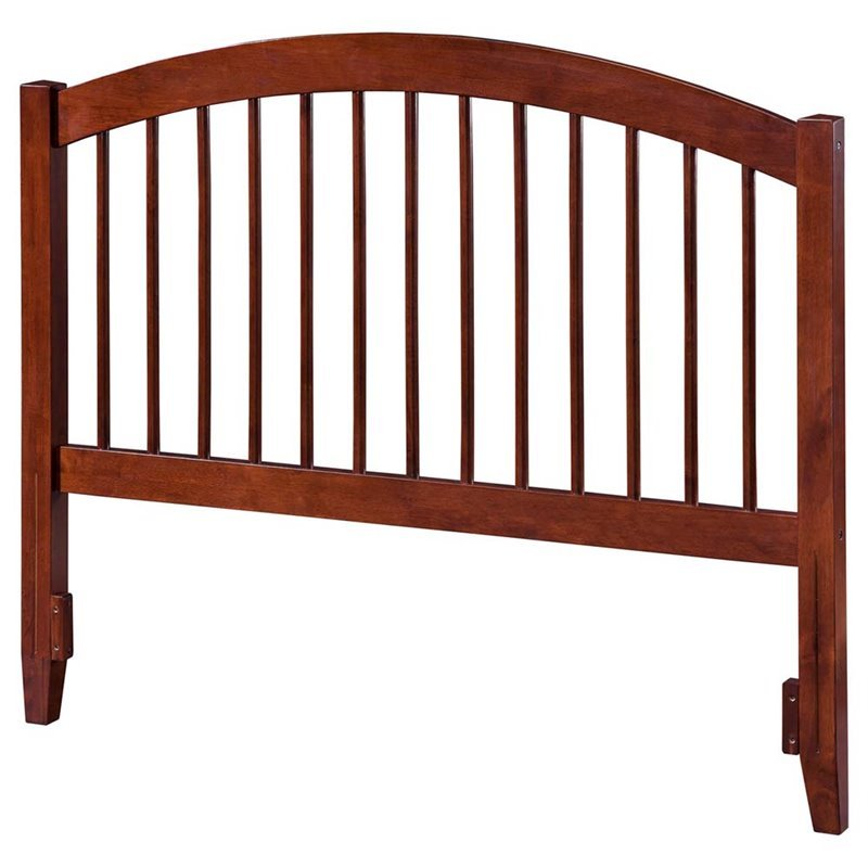 Atlantic Furniture Windsor Queen Spindle Headboard in Walnut