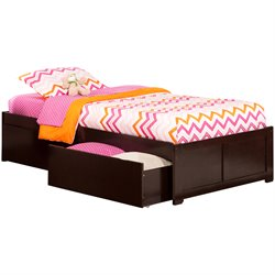 Atlantic Furniture Concord Urban Storage Platform Bed in Espresso