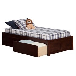 Atlantic Furniture Concord Urban Storage Platform Bed in Walnut