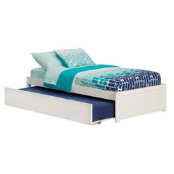 Atlantic Furniture Concord Urban Trundle Platform Bed in White