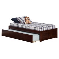 Atlantic Furniture Concord Urban Trundle Platform Bed in Walnut