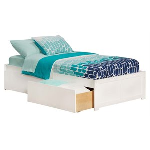 Atlantic Furniture Concord Urban Storage Platform Bed in White