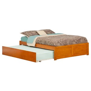 Atlantic Furniture Concord Urban Trundle Platform Bed in Caramel Latte