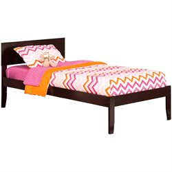 Atlantic Furniture Orlando Panel Platform Bed in Espresso (A)
