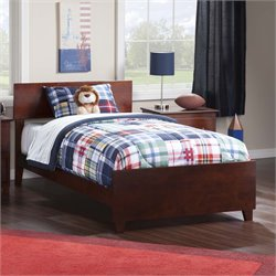 Atlantic Furniture Orlando Panel Platform Bed in Walnut (B)