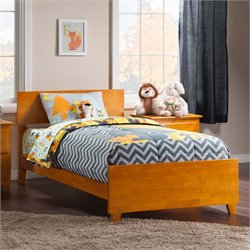 Atlantic Furniture Orlando Panel Platform Bed in Caramel Latte (B)
