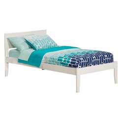 Atlantic Furniture Orlando Panel Platform Bed in White (A)