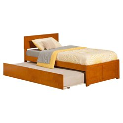 Atlantic Furniture Orlando Urban Trundle Panel Platform Bed in Caramel Latte (A)