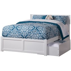 Atlantic Furniture Orlando Urban Storage Panel Platform Bed in White (A)