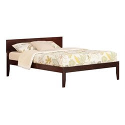 Atlantic Furniture Orlando Panel Platform Bed in Walnut (A)