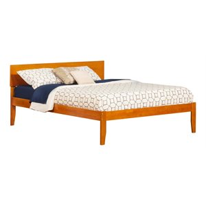 Atlantic Furniture Orlando Panel Platform Bed in Caramel Latte (A)