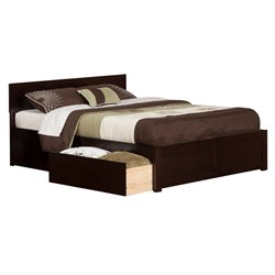 Atlantic Furniture Orlando Urban Storage Panel Platform Bed in Espresso (B)
