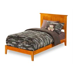 Atlantic Furniture Nantucket Twin XL Panel Platform Bed in Caramel Latte