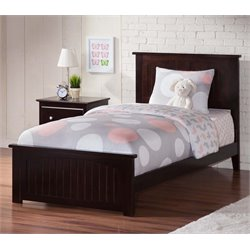 Atlantic Furniture Nantucket Twin XL Panel Platform Bed in Espresso
