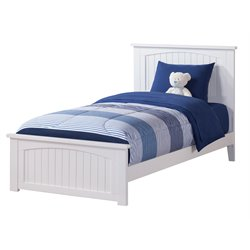 Atlantic Furniture Nantucket Twin XL Panel Platform Bed in White