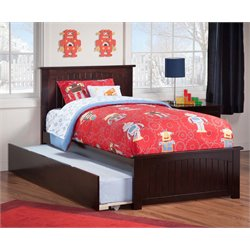 Atlantic Furniture Nantucket Urban Trundle Panel Platform Bed in Espresso (B)