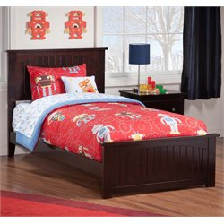 Atlantic Furniture Nantucket Panel Platform Bed in Espresso (B)