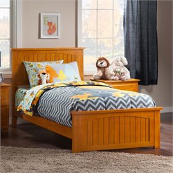 Atlantic Furniture Nantucket Panel Platform Bed in Caramel Latte (B)