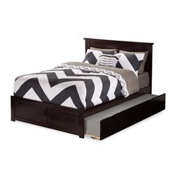 Atlantic Furniture Nantucket Urban Trundle Panel Platform Bed in Espresso (A)