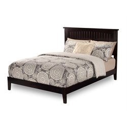 Atlantic Furniture Nantucket Panel Platform Bed in Espresso (A)