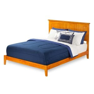 Atlantic Furniture Nantucket Panel Platform Bed in Caramel Latte (A)