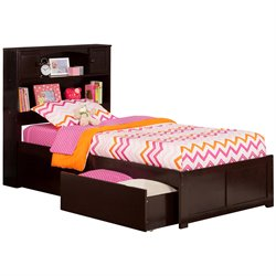 Atlantic Furniture Newport Urban Storage Platform Bed in Espresso