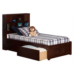 Atlantic Furniture Newport Urban Storage Platform Bed in Walnut