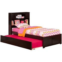 Atlantic Furniture Newport Urban Trundle Platform Bed in Espresso