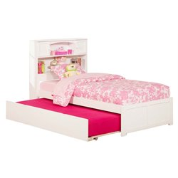 Atlantic Furniture Newport Urban Trundle Platform Bed in White