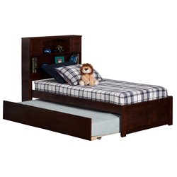 Atlantic Furniture Newport Urban Trundle Platform Bed in Walnut