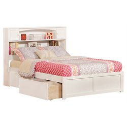 Atlantic Furniture Newport Urban Storage Platform Bed in White
